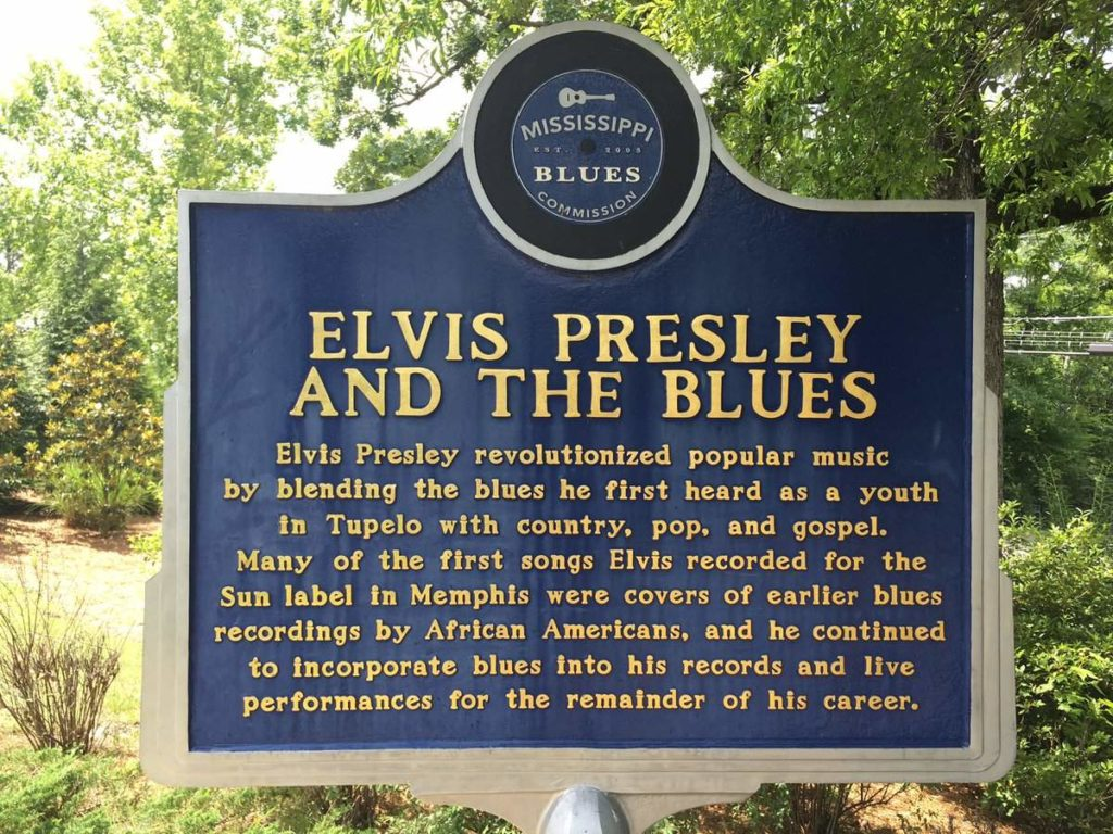 elvis presley and the blues historical sign